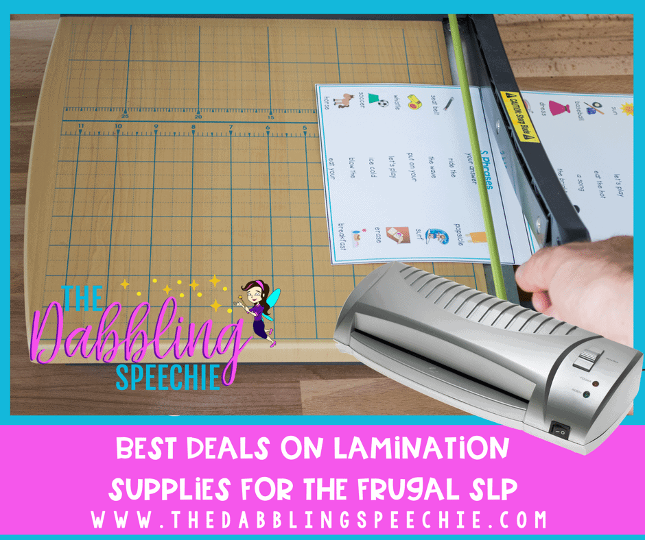 best deals on lamination supplies for the frugal SLP.