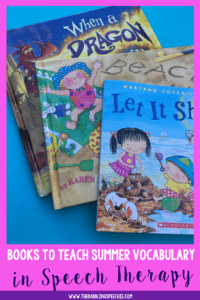 Books To Teach Summer Vocabulary In Speech Therapy