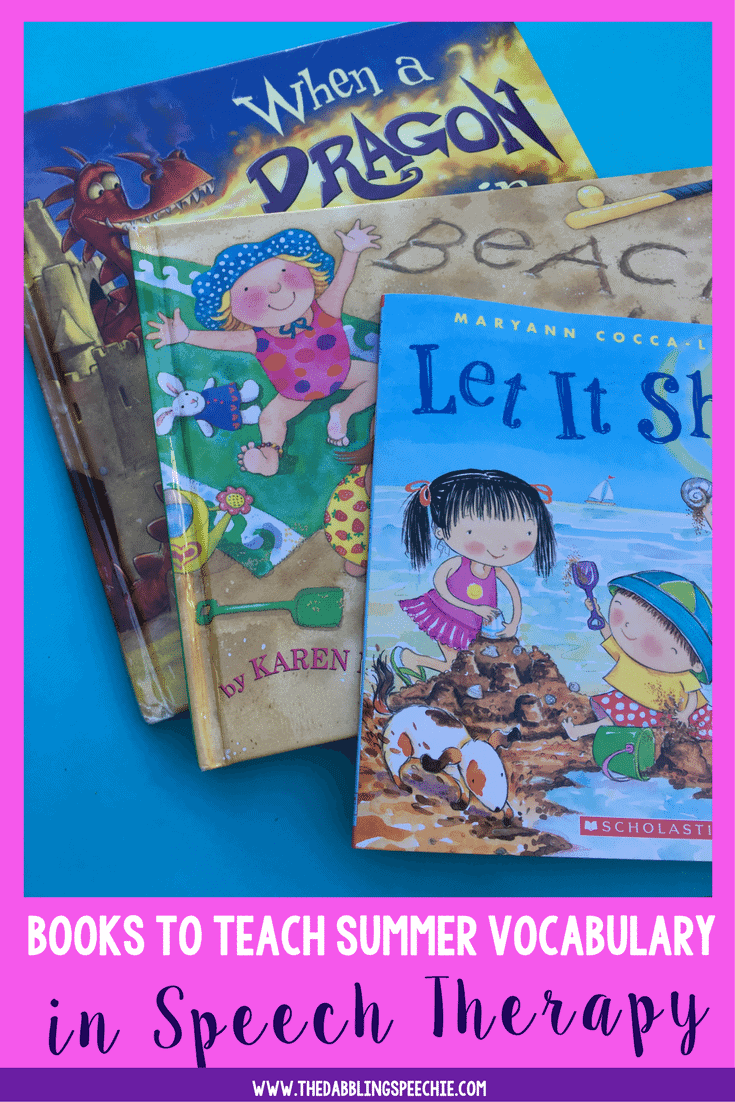 Need books to teach vocabulary and summer themed vocabulary? Here is a list of top recommended summer books for kids to build vocabulary in speech therapy