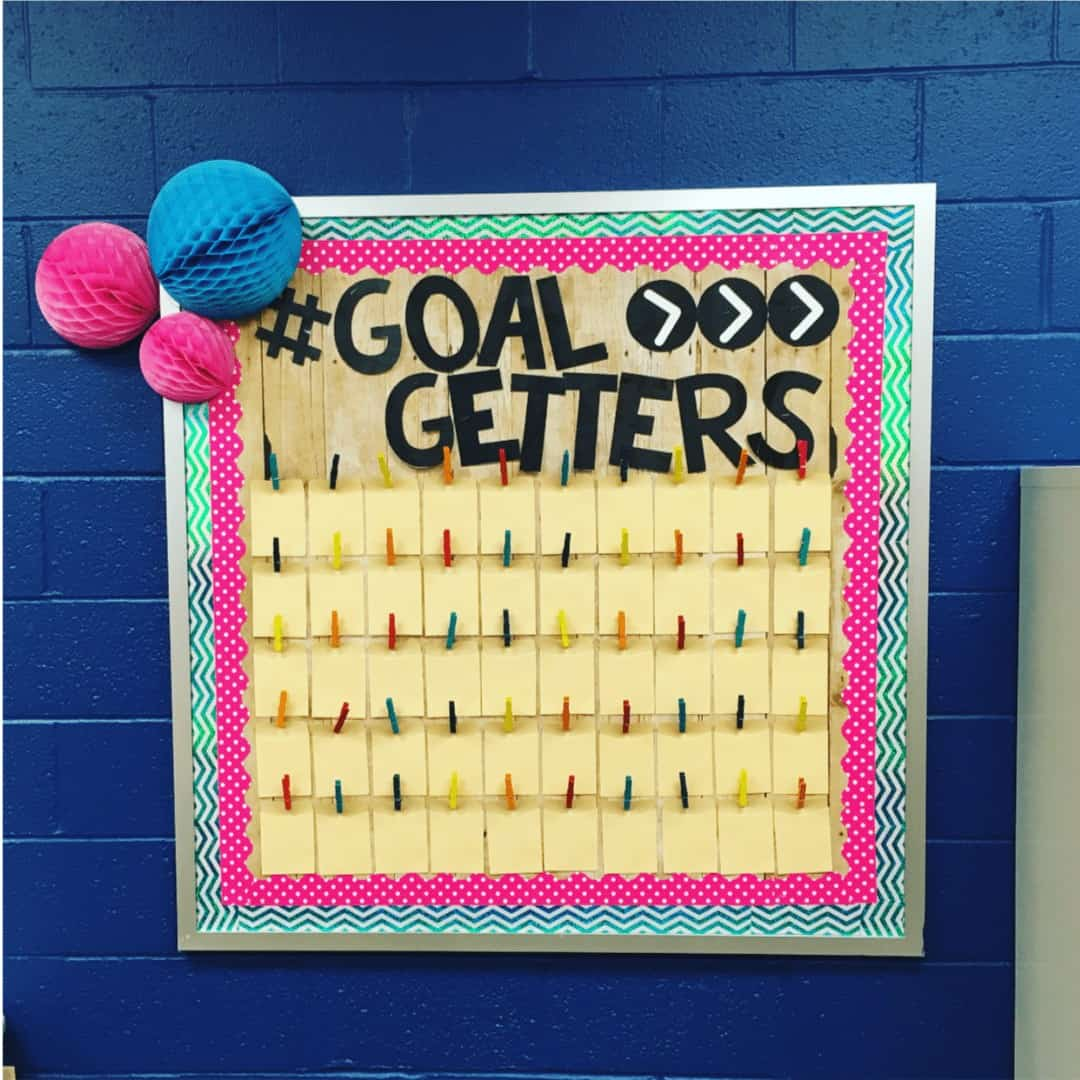 speech therapy bulletin boards for SLPs goal setting board
